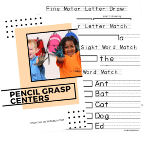 pencil grasp writing centers