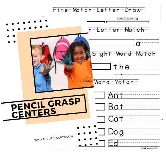 pencil grasp writing centers