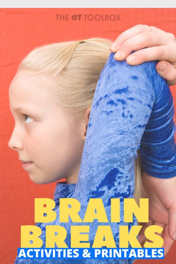 Brain breaks are quick, 3 minute mental shifts or physical activities to allow more oxygen through the body to help with attention and focus. THese brain break activities are great for kids.