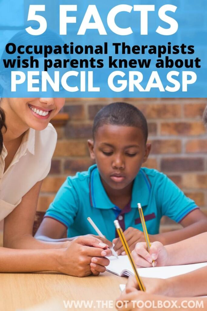 Facts therapists with parents knew about pencil grasp