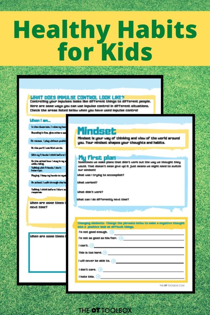 Use journaling, lists, and trackers to help kids form healthy habits.