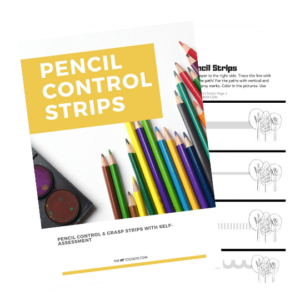 Pencil control strips