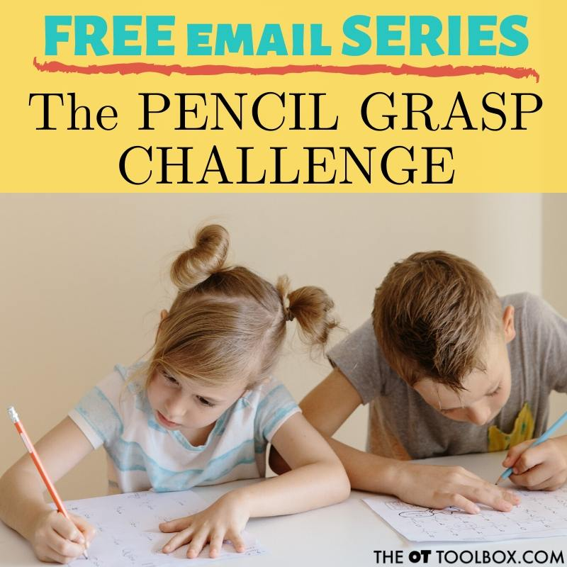 Pencil grasp challenge activities to help pencil grasp problems