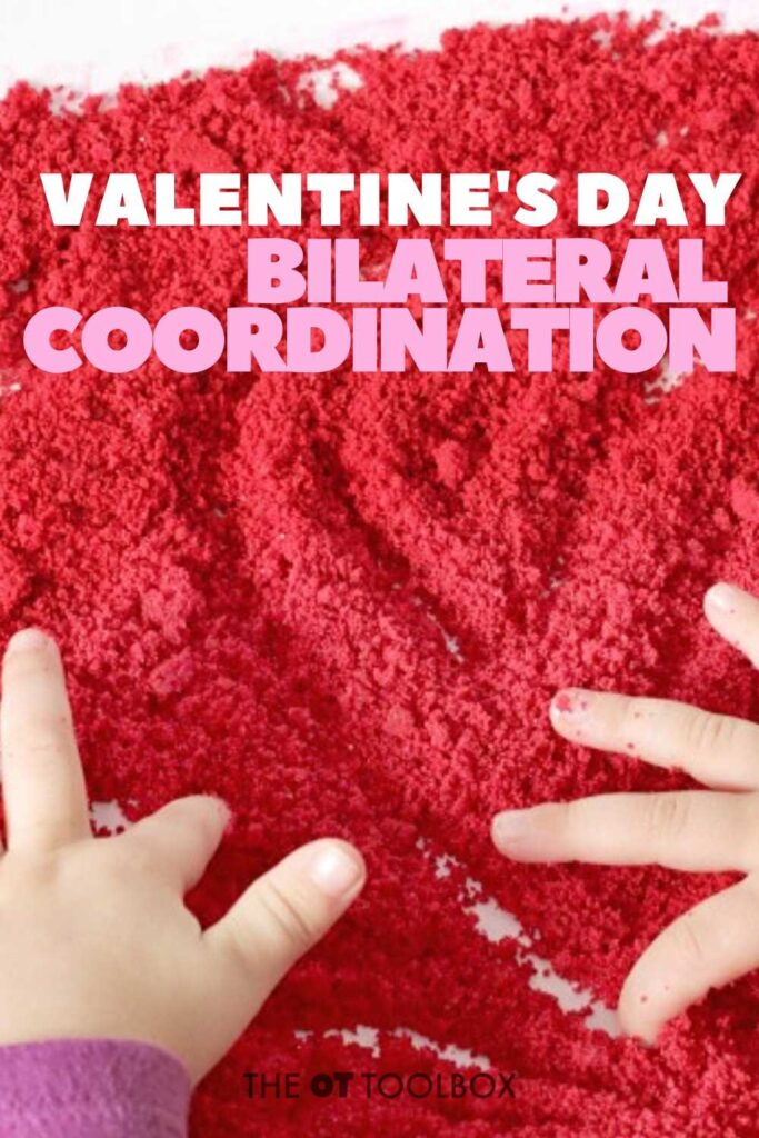 Valentines Day bilateral coordination activities for working on skills kids need for development.