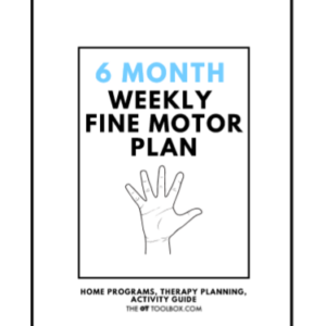 weekly fine motor activity plan