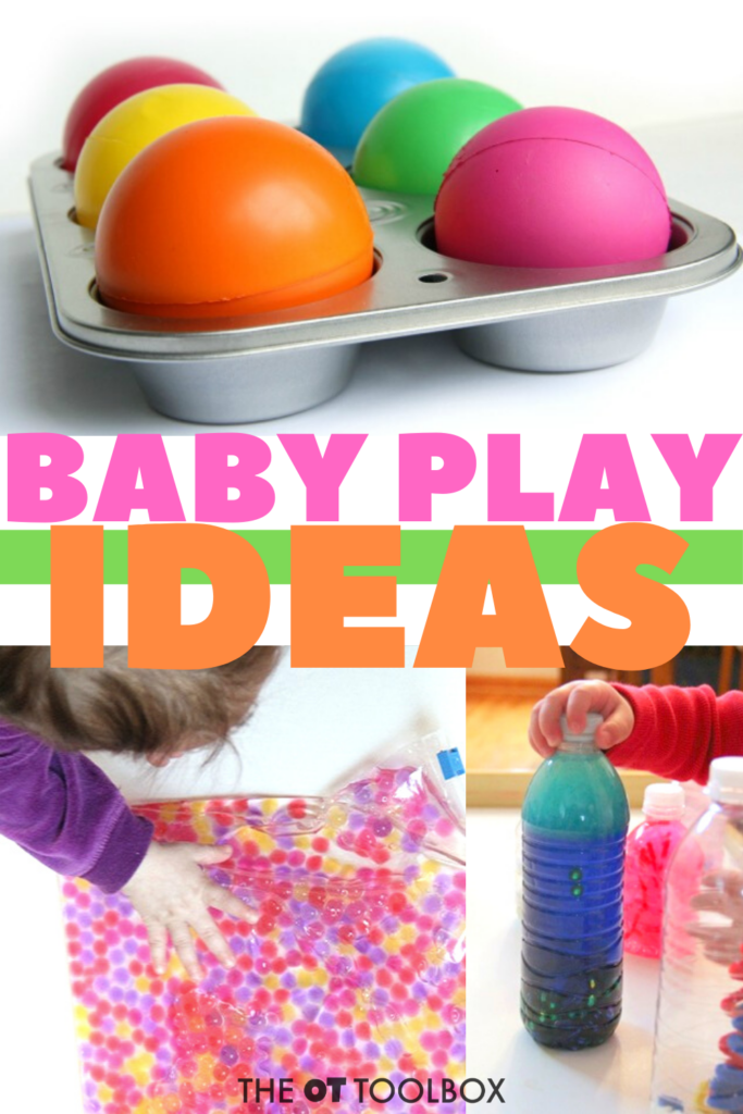 Baby play ideas can be easy but pack a powerful punch when it comes to child development and helping with skills like crawling and learning.