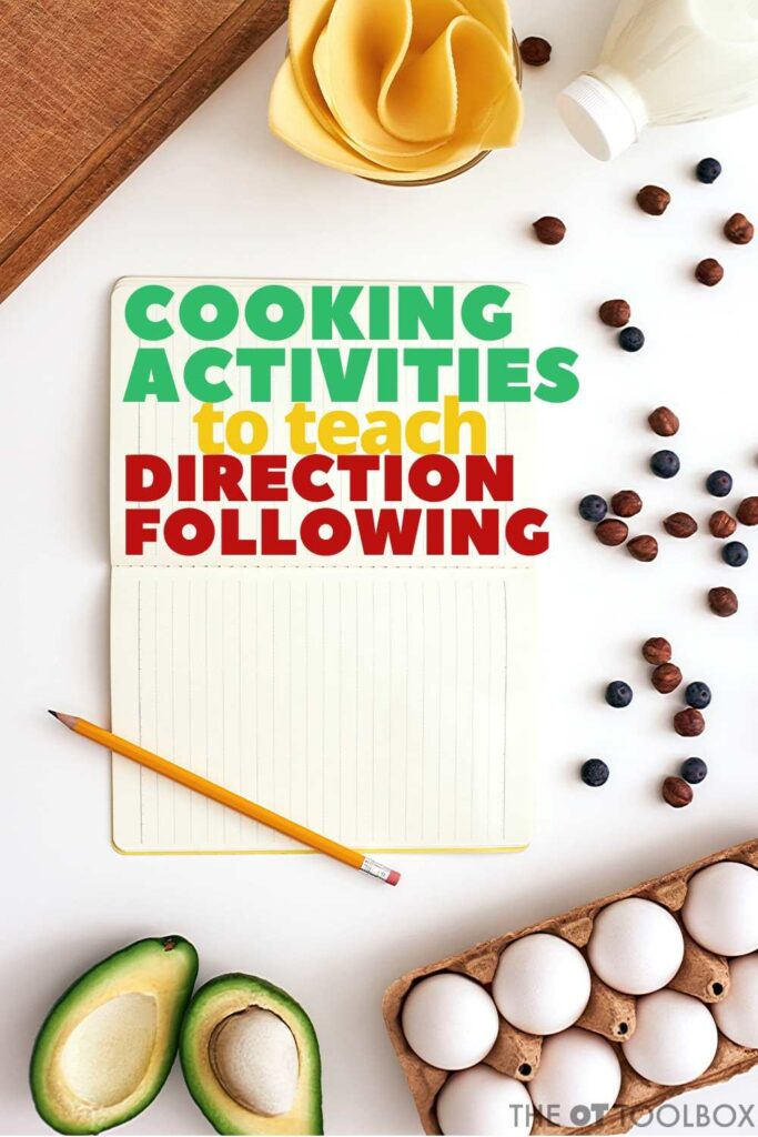 Cooking activities for kids can be used to teach kids about following directions. Use them in kids cooking classes or occupational therapy cooking groups.