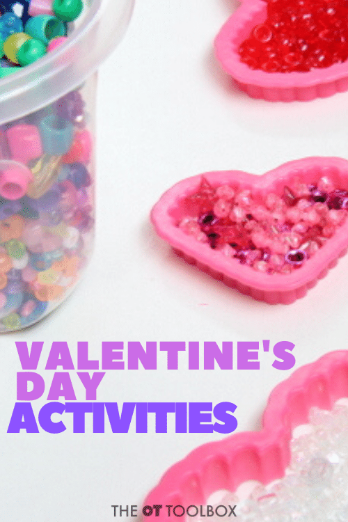 Valentines day activities to build fine motor skills