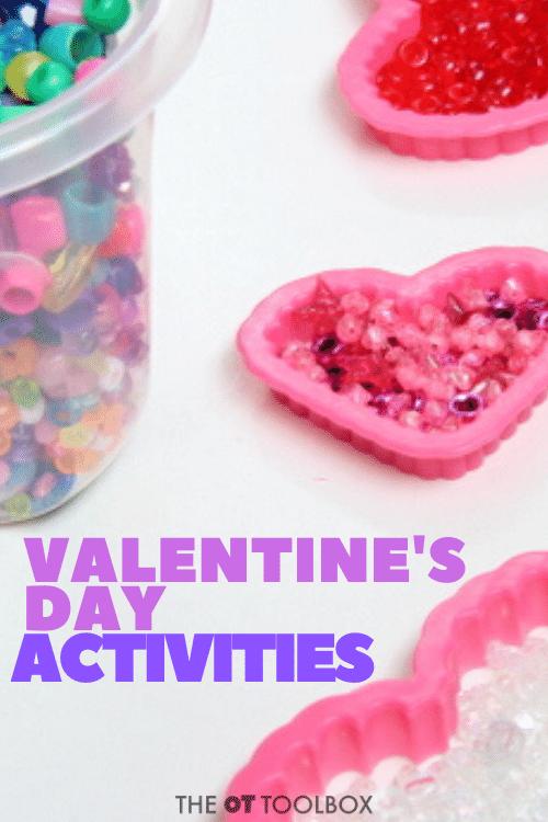 Valentines day activities to build fine motor skills