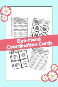 Spring hand eye coordination fine motor worksheets
