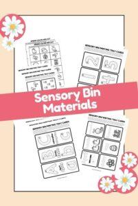 Spring sensory bin worksheets