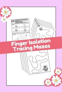 Finger isolation fine motor tracing sheets