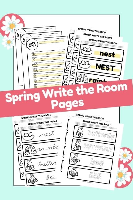 Spring write the room worksheets