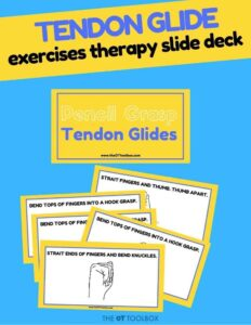 tendon glides therapy slide deck