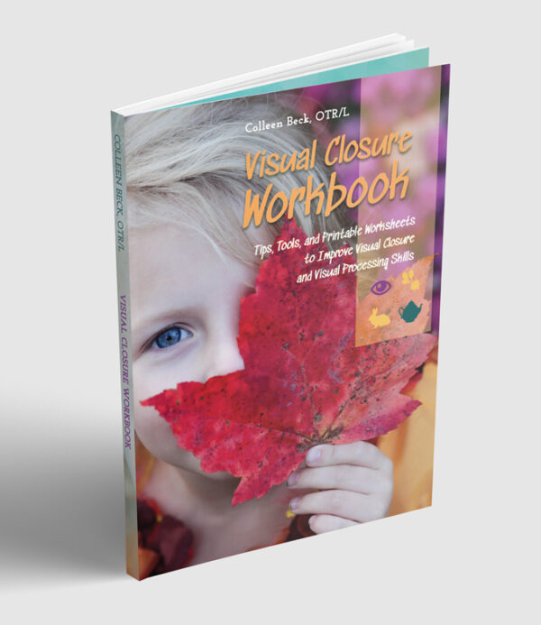 Visual closure and how it impacts everything from writing to math to learning, and visual closure activities with this vision workbook