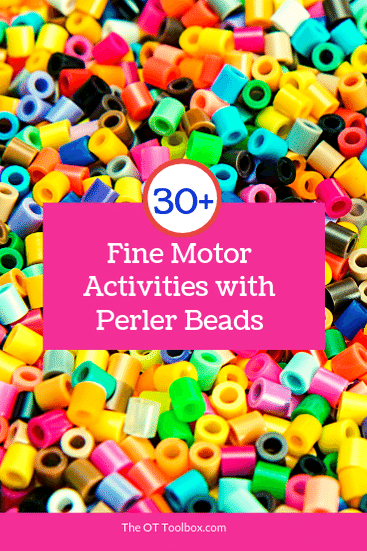 fine motor activities using beads and activities in the home