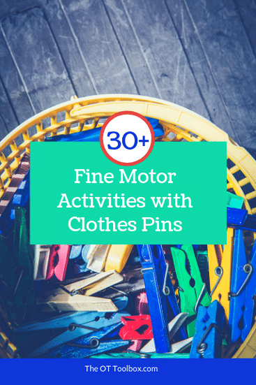 fine motor activities using everyday household items, like cloths pins to work on fine motor skills in kids.