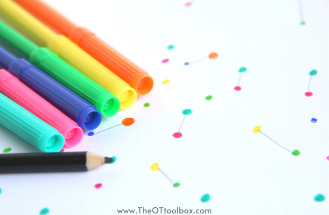 Use simple and everyday items to work on fine motor skills during occupational therapy teletherapy sessions
