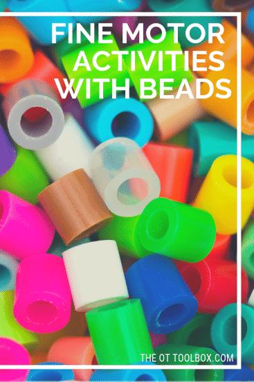 fine motor activities using beads