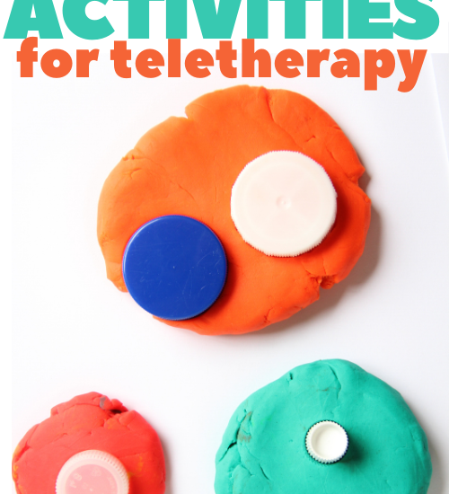 these fine motor activities for teletherapy require items already in the home