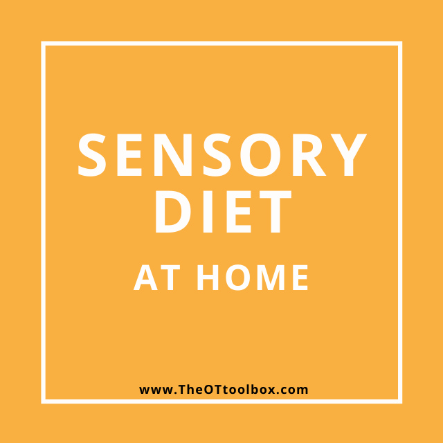 sensory diet activities for home to use in OT teletherapy sessions