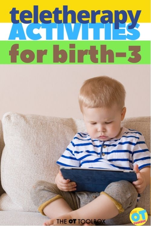 teletherapy activities for birth to 3 and early intervention