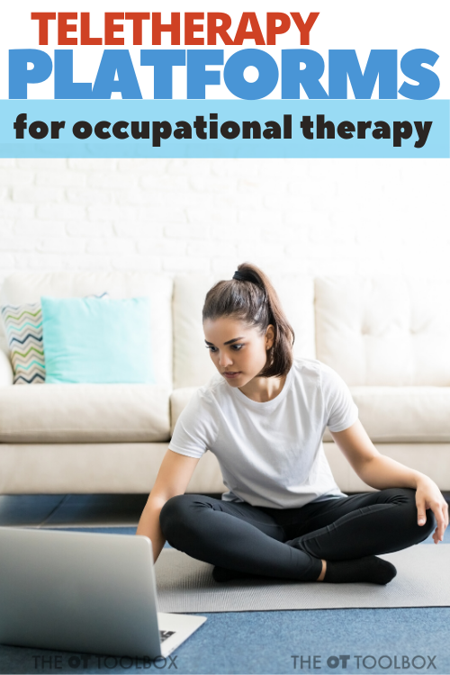 Teletherapy platforms for occupational therapy delivery of virtual therapy services.
