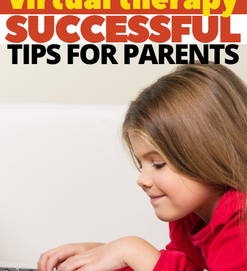 Send these tips for parents who have children in virtual therapy for online occupational therapy sessions.