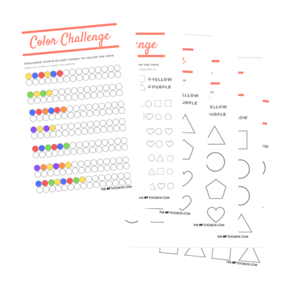 Help kids with Visual perception with coloring worksheets