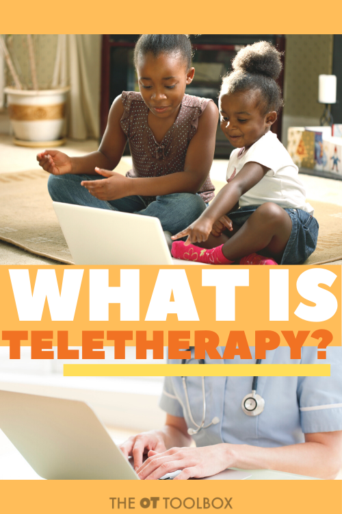 What is teletherapy? This resource explains occupational therapy virtual therapy sessions with kids.