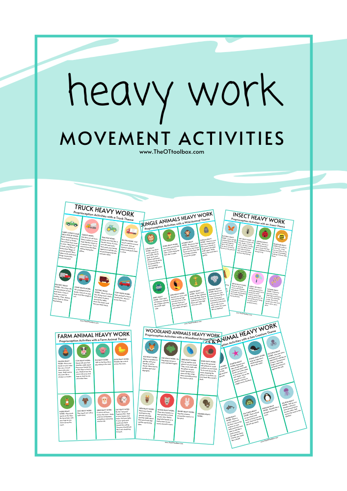 heavy work movement activity cards