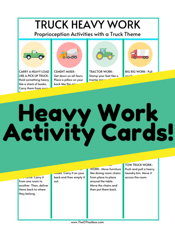 truck heavy work activity cards