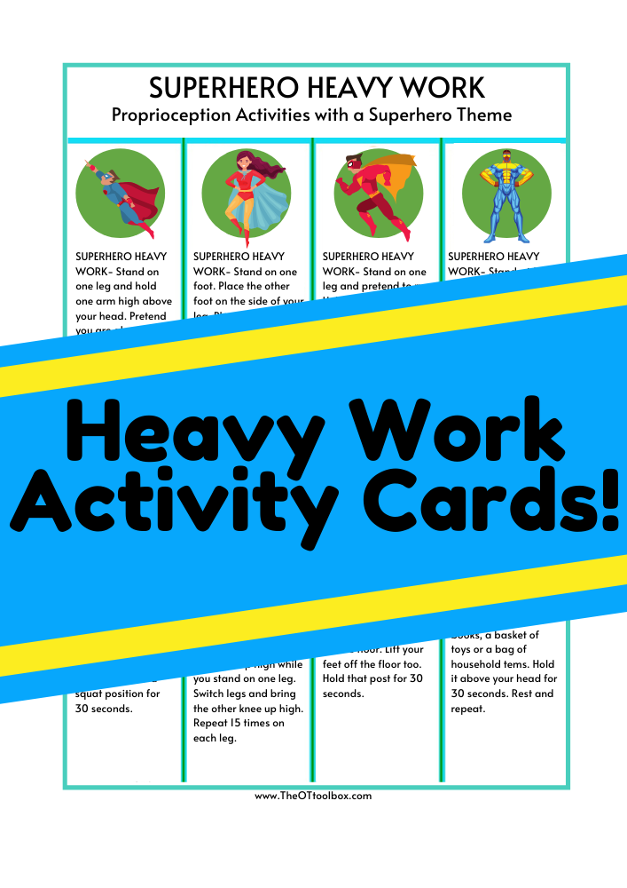 heavy work activity card example