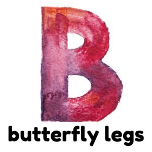 B is for butterfly legs gross motor activity part of an abc exercise for kids