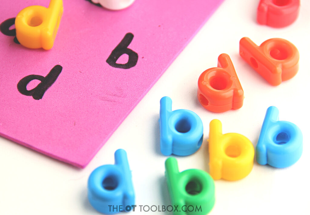 Help kids fix backward letters when writing with a hands-on activity designed to help with letter reversals and writing backwards.