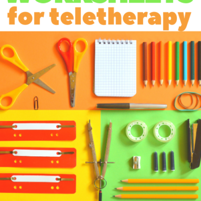 Teletherapy Games and Worksheets