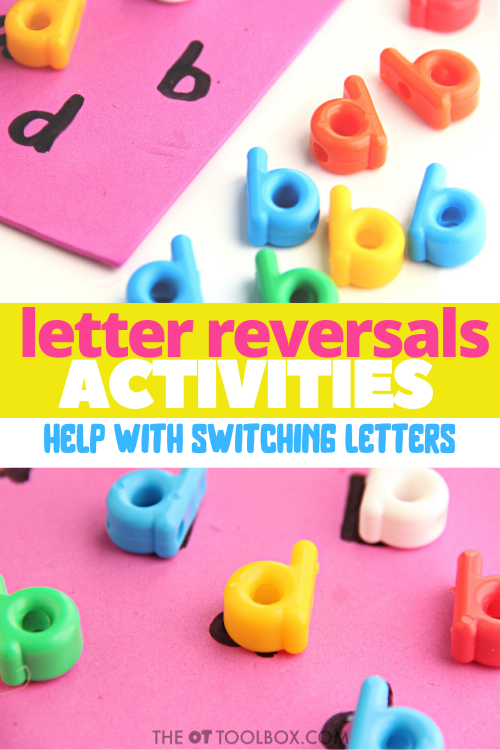 How to help kids when they write backward letters, or fixing letter reversals in handwriting.