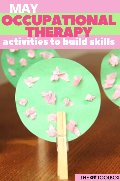 Add these May occupational therapy activities to your OT planning for creating home programs and therapy plans to serve a variety of needs. Grab the free May OT calendar.
