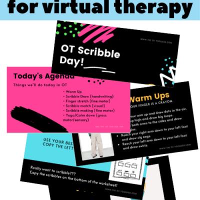 Letter Formation Slide Deck for Teletherapy