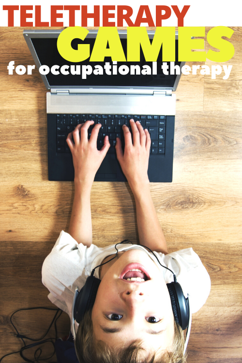These teletherapy games can be used in occupational therapy sessions in online therapy.