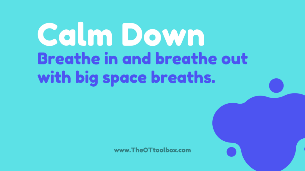 space activities for calming down and coping strategies for kids