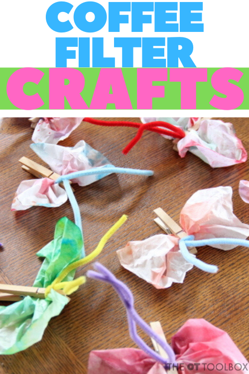 Coffee filter crafts to help kids develop skills