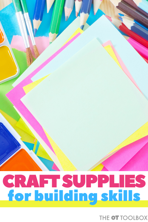 use craft supplies in therapy