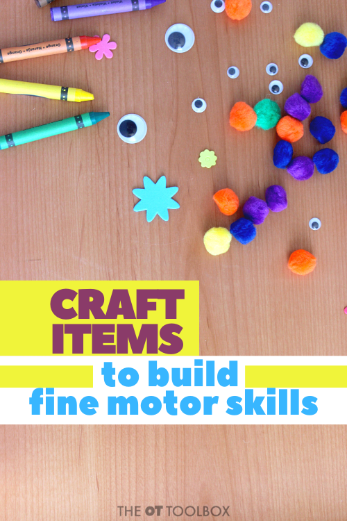craft supplies to help kids build skills in therapy