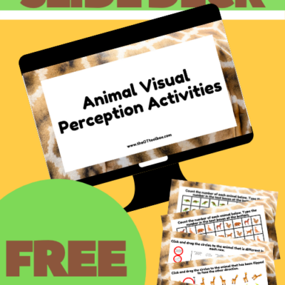 Free Therapy Slide Deck- Animal Visual Perception