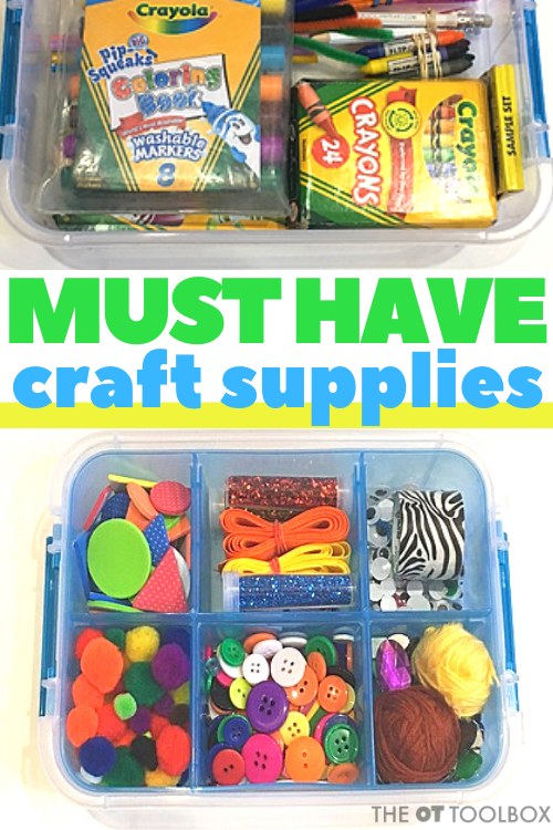 These must have craft supplies are great for making a craft kit for kids