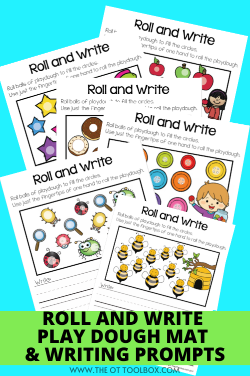 play dough mat writing prompts