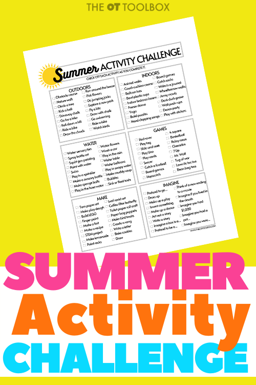 Print off this summer bucket list activity challenge for kids and keep the kids active and screen free this summer