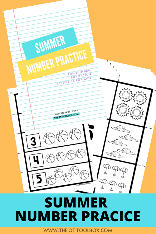 summer number writing practice