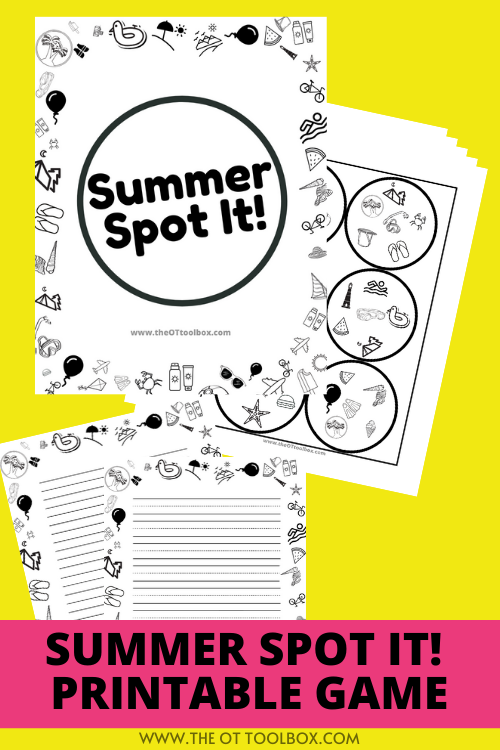 summer spot it game